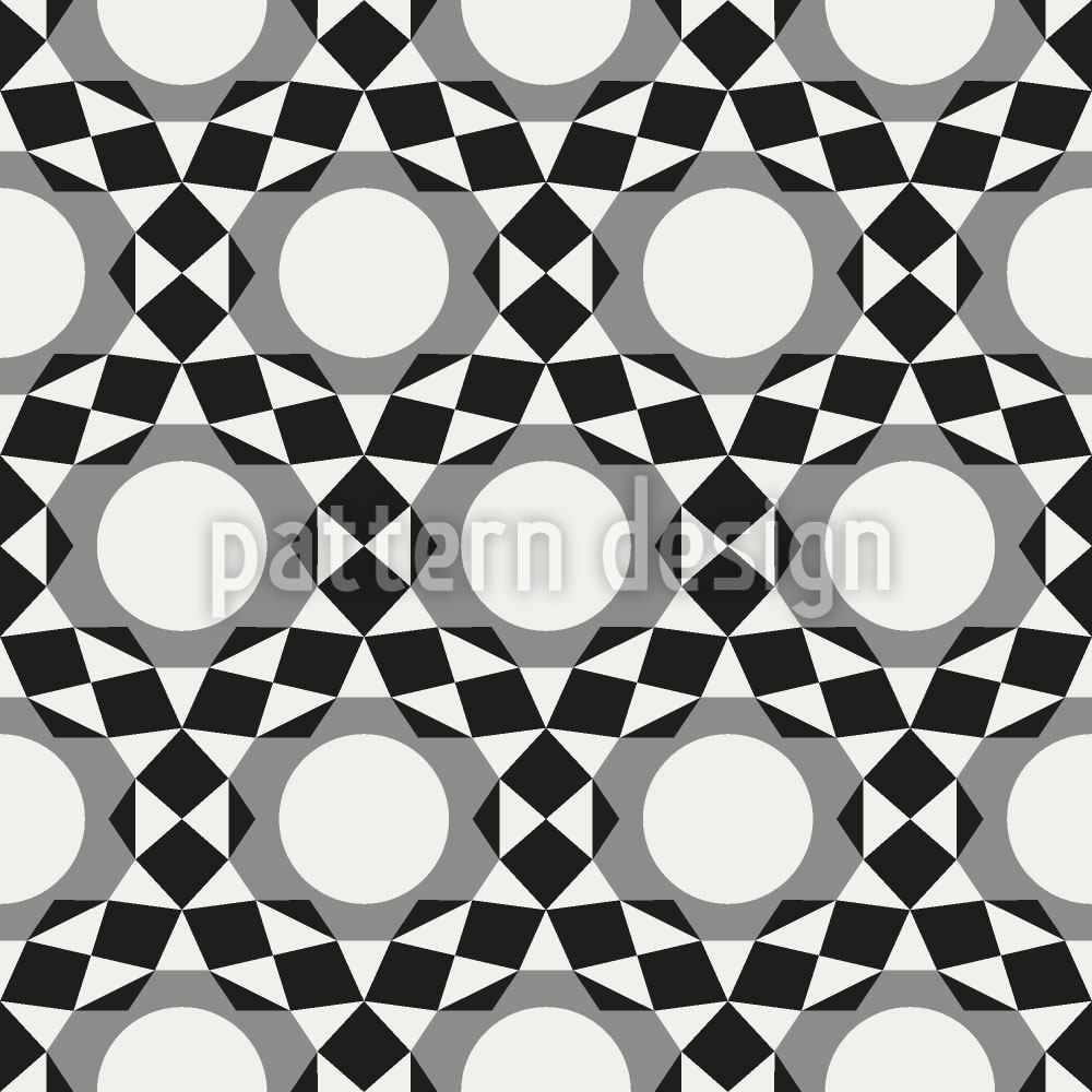 Pattern Wallpaper Circles become Stars