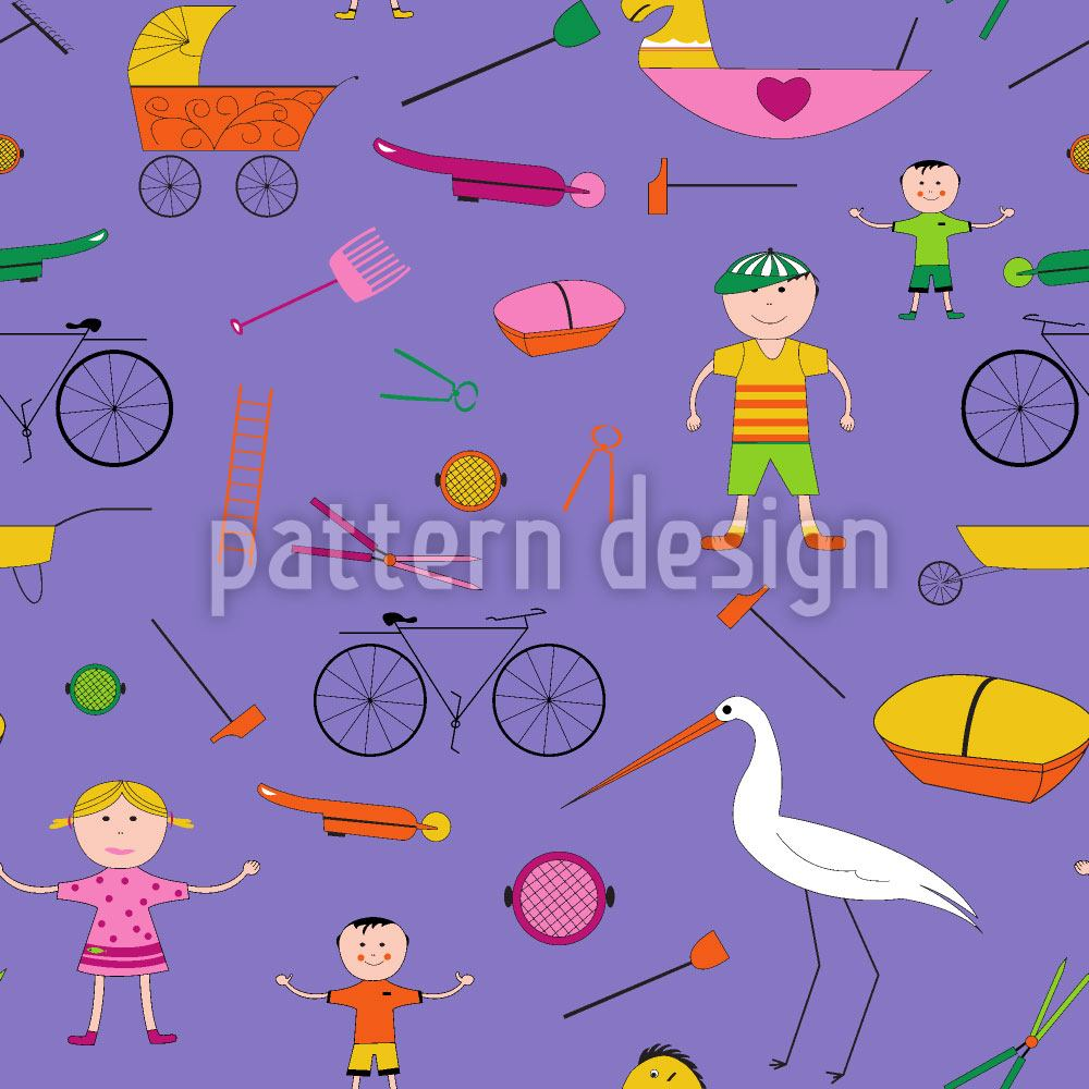 Papier peint design Hustle and Bustle of Children