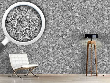 Pattern Wallpaper Rough Circles