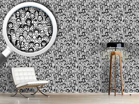 Pattern Wallpaper Happy People