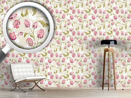 Pattern Wallpaper Tulips