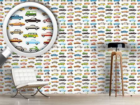 Pattern Wallpaper Retro Cars