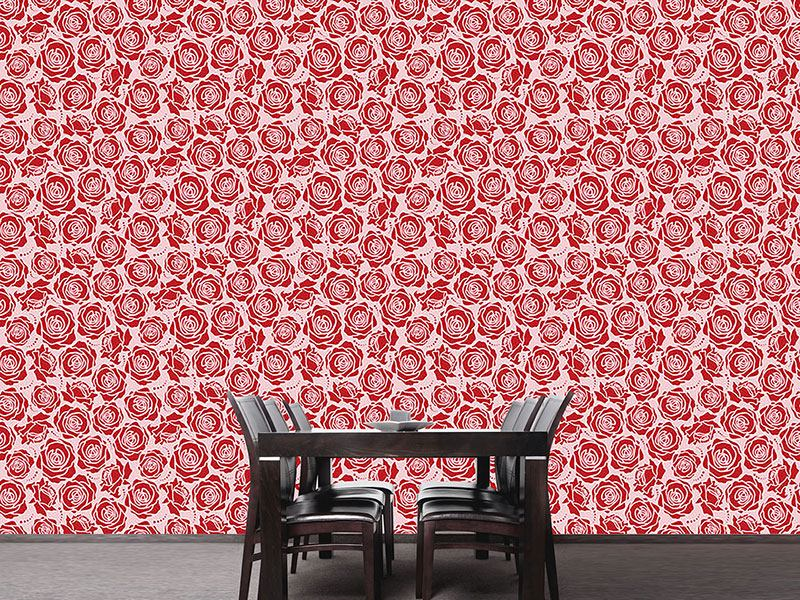 Pattern Wallpaper Rose Blossoms Rosey
