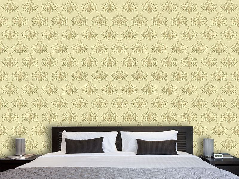 Pattern Wallpaper Lily Beige
