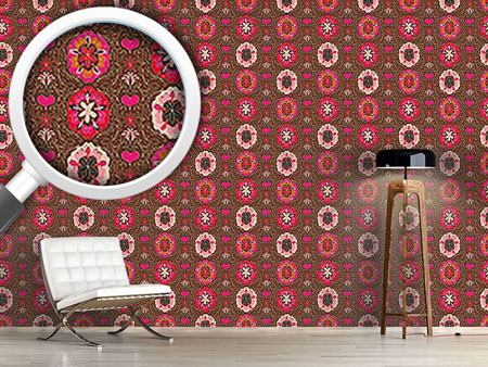 Pattern Wallpaper Floralie Brown