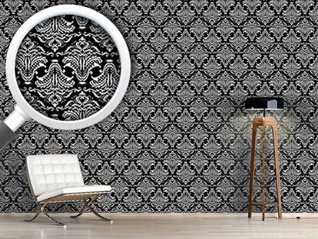 Pattern Wallpaper Black Opulence