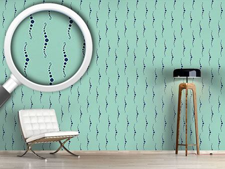 Pattern Wallpaper Deep Blue Pearl Diver