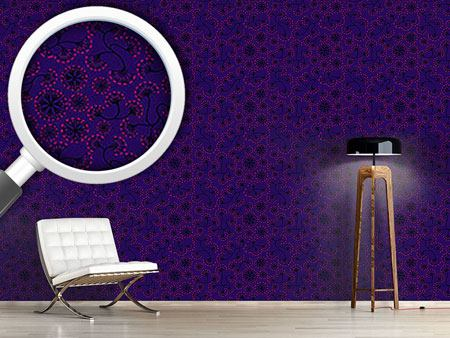 Pattern Wallpaper Boheme Hanoi Night