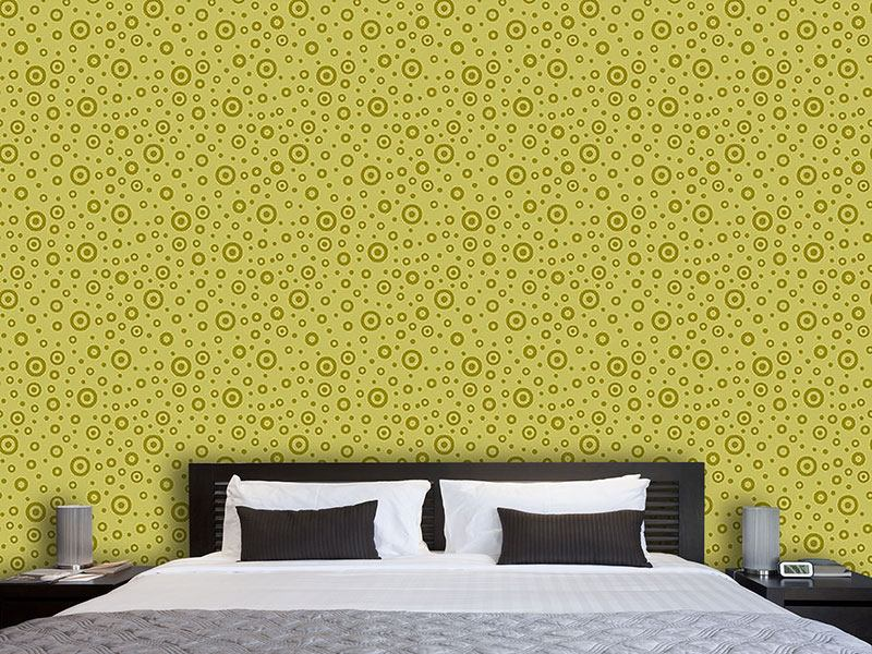 Pattern Wallpaper Green Darts