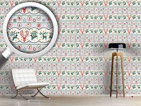 Pattern Wallpaper Merry Stag Night