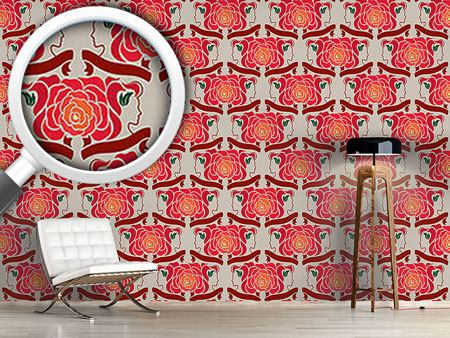 Pattern Wallpaper Lady Rose