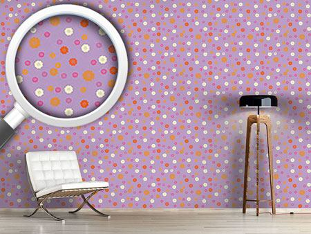 Pattern Wallpaper Cute Blossoms