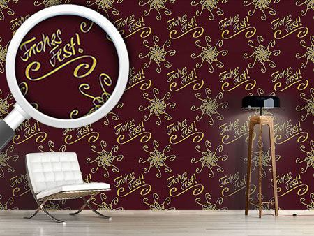 Pattern Wallpaper Holy Days Brown