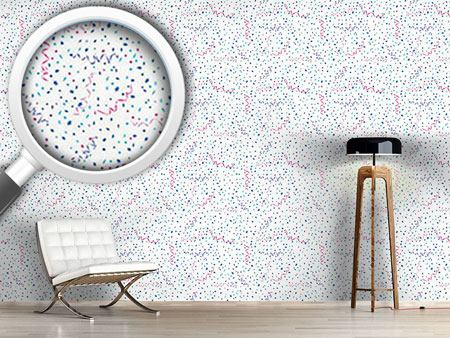 Pattern Wallpaper Confetti White