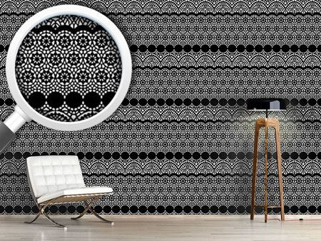 Pattern Wallpaper Alhambra Black