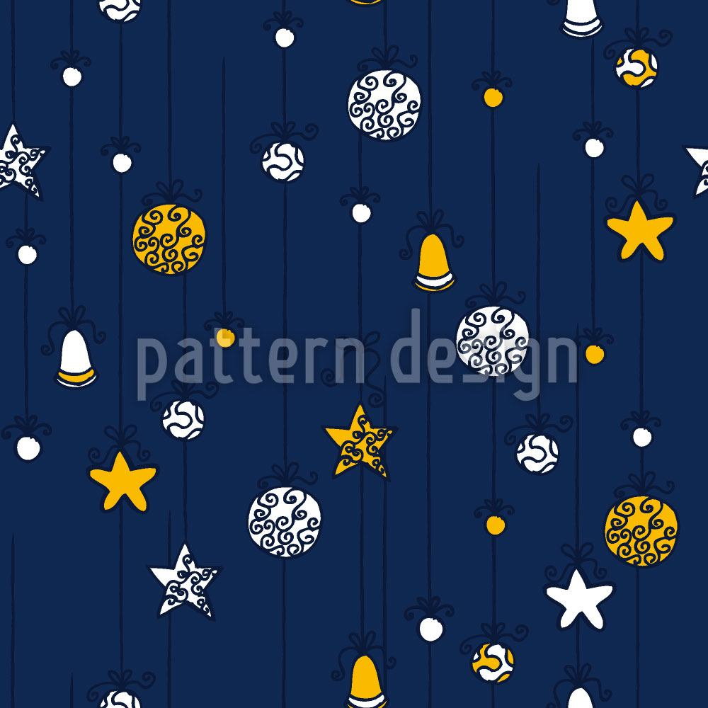Pattern Wallpaper Christmas Decorations Blue