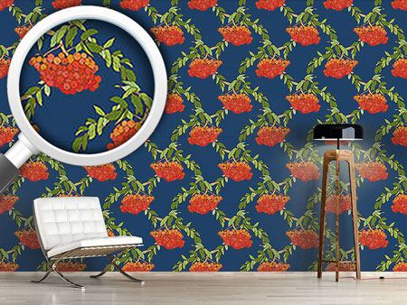 Pattern Wallpaper Rowan Blue