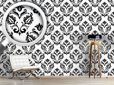 Pattern Wallpaper Aramis BW