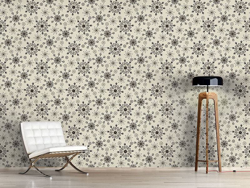 Pattern Wallpaper Light And Flaky Beige