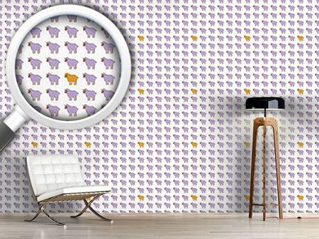 Pattern Wallpaper The Orange Sheep