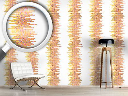 Pattern Wallpaper Clustered Tiles Sun