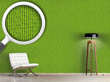 Pattern Wallpaper Leaf Green Retro
