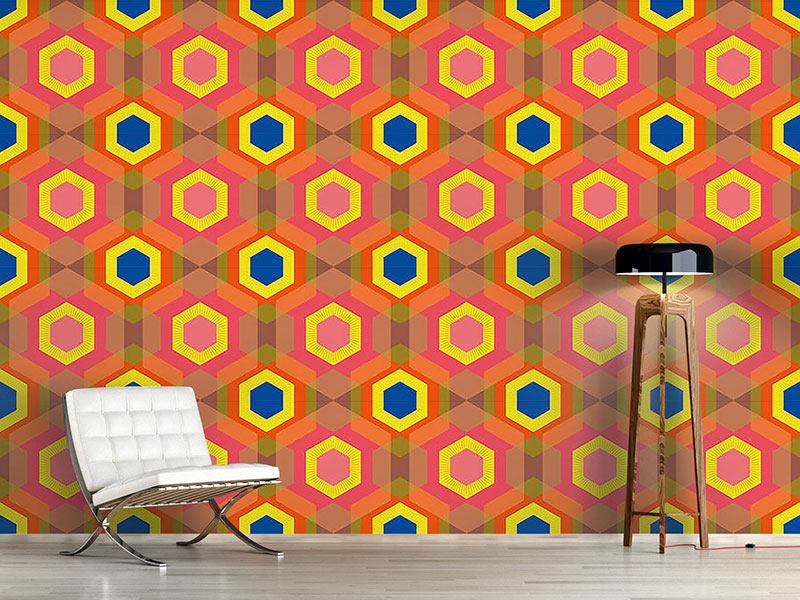 Pattern Wallpaper Colorful Hexagons