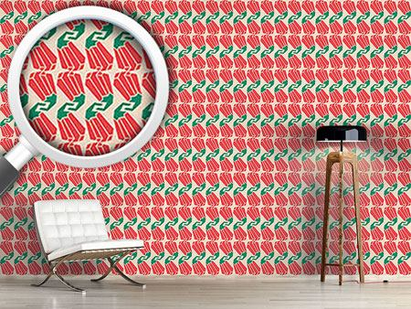 Pattern Wallpaper Hot Hot Chilli
