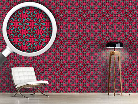 Pattern Wallpaper Red Rascal
