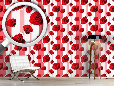 Pattern Wallpaper Red roses