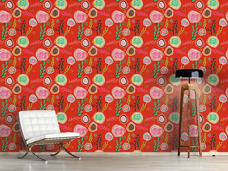 Pattern Wallpaper Crazy For Roses