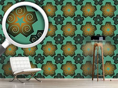 Pattern Wallpaper Whirlwind Star Sparkle