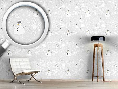Pattern Wallpaper Let It Snow Man