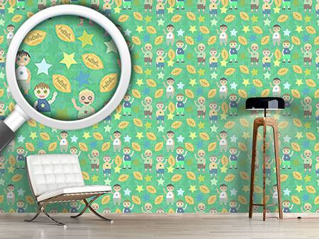 Pattern Wallpaper Football And Friends