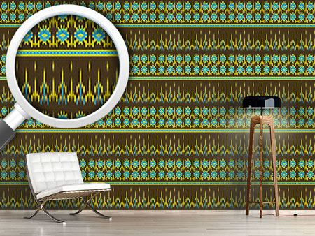 Pattern Wallpaper Actek Ikat