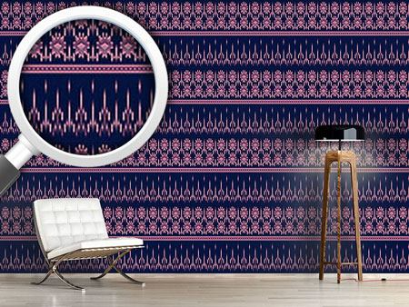 Pattern Wallpaper Latin Ikat