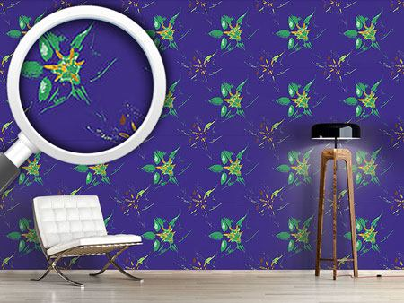 Pattern Wallpaper Tropical Blossom