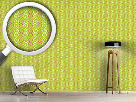Pattern Wallpaper Swirly Stripes