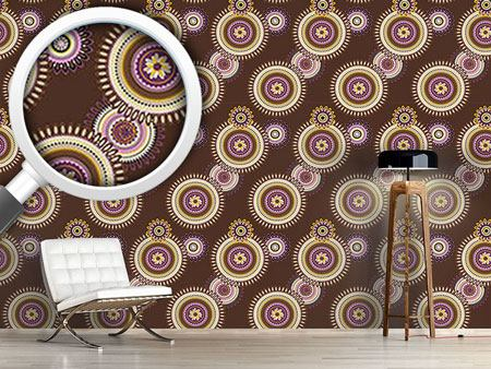 Pattern Wallpaper Floral Mandalas