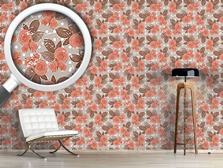 Pattern Wallpaper Rose Nostalgia