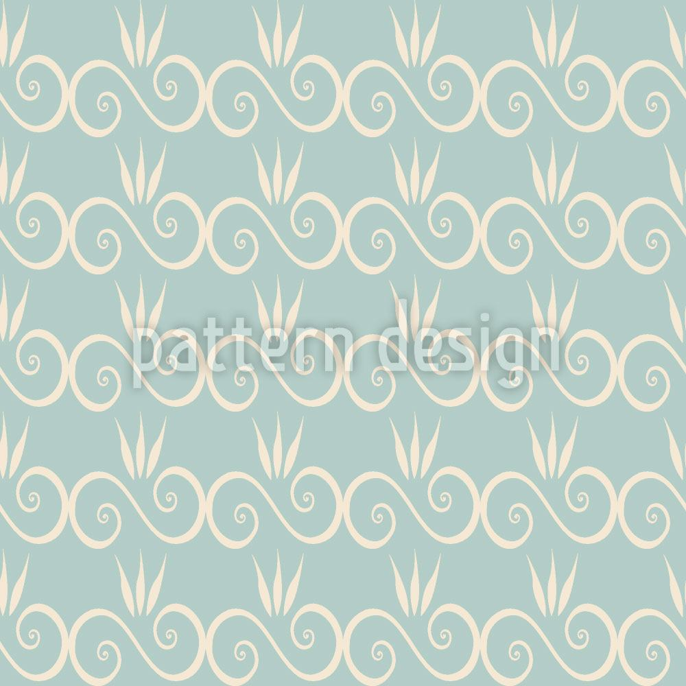 Pattern Wallpaper Sweet Little Princess Curls