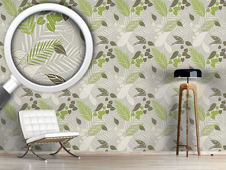 Pattern Wallpaper Grey Forest Soil