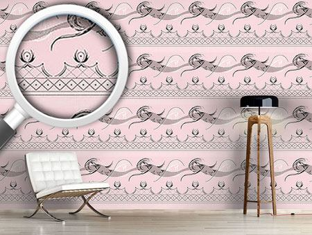Pattern Wallpaper Moulin Rose