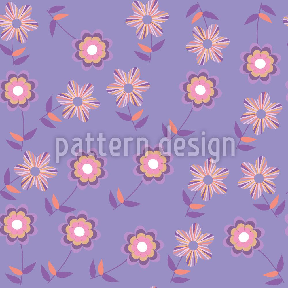 Pattern Wallpaper Melancholia Floral