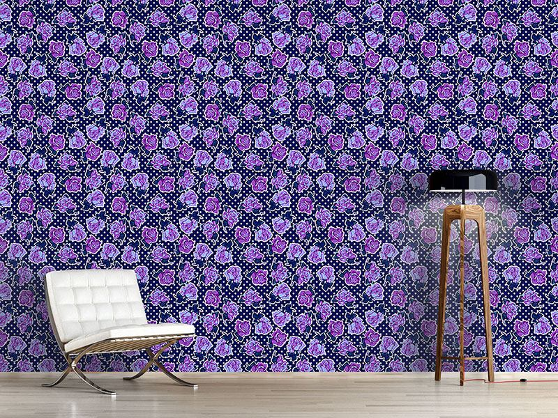 Pattern Wallpaper The Navy Roses
