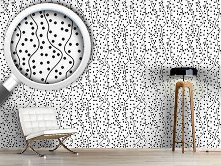 Pattern Wallpaper Meander Dots