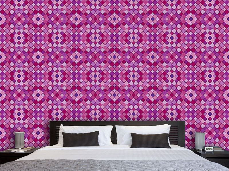 Pattern Wallpaper Sweet Quatrefoil