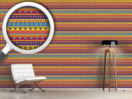 Pattern Wallpaper Funny Inca Print