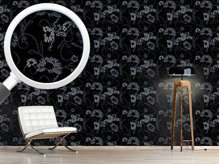 Pattern Wallpaper The Garden Nero