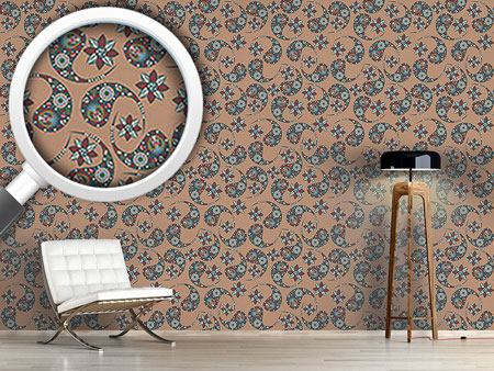 Pattern Wallpaper Nougat Paisley